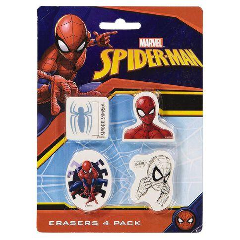 Spider-Man Erasers 4 Pack