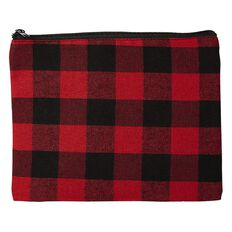 Impact Pencil Case Flat Check Red