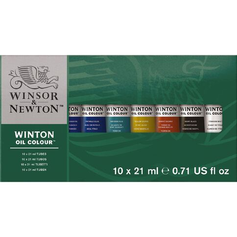 Winsor & Newton Winton Set of 10 21ml Multi-Coloured