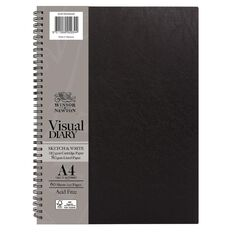 Winsor & Newton Visual Diary Sketch & Write 110gsm A4 60 Sheets Black