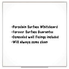 Boyd Visuals Porcelain Whiteboard 1200 x 1200mm White