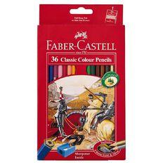 Faber-Castell Classic Colour Pencils Multi-Coloured 36 Pack
