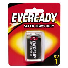 Eveready Super Heavy Duty Batteries 9 Volt