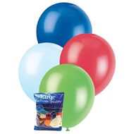 Unique Decorator Balloons 30cm 25 Pack Multi-Coloured