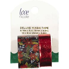 Washi Love Nicole Holiday Floral 2 Pack