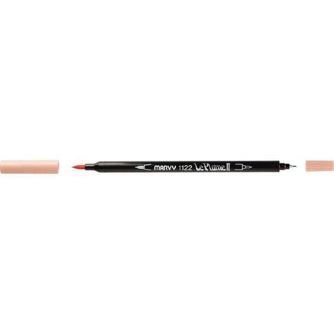 MARVY Le Plume II Dual Tip Marker Pastel Peach