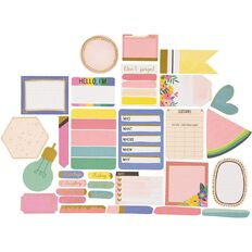 Rosie's Studio Lets Get Together Journaling Spots 30 Pack Mix