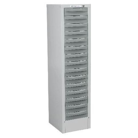 Precision Multi 15 Drawer Silver Grey