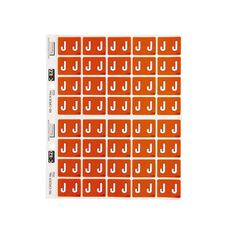 Filecorp Coloured Labels J Orange