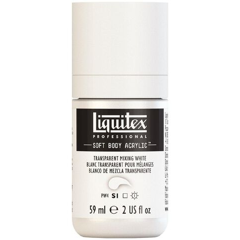 Liquitex Soft Body Acrylic 59ml Transparent Mixing White S1