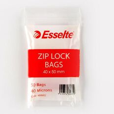 Esselte Zip Lock Bags 40mm x 50mm 50 Pack