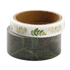 Uniti Plant Lady Washi Tape 2 Pack Leaf