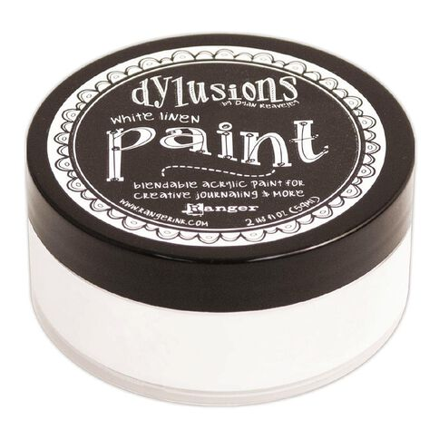 Ranger Dylusions Paint White Linen