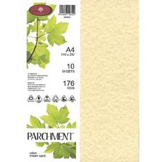 Direct Paper Parchment Card 176gsm 10 Pack Orion Cream A4
