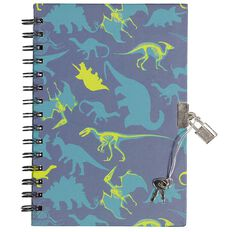 Kookie Dinosaur Notebook Hardcover With Lock A5