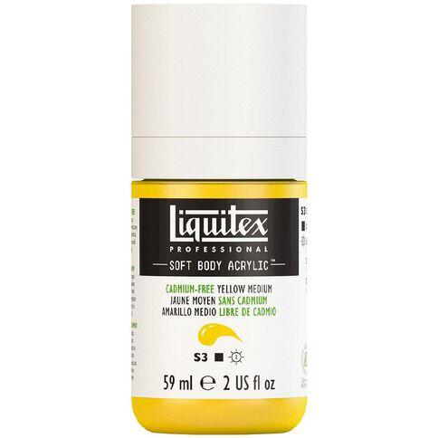 Liquitex Soft Body Acrylic 59ml Cadmium Free Medium Yellow S3