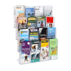 Deflecto Brochure Holder Lit Loc Wall Rack Kit 16 x DLE