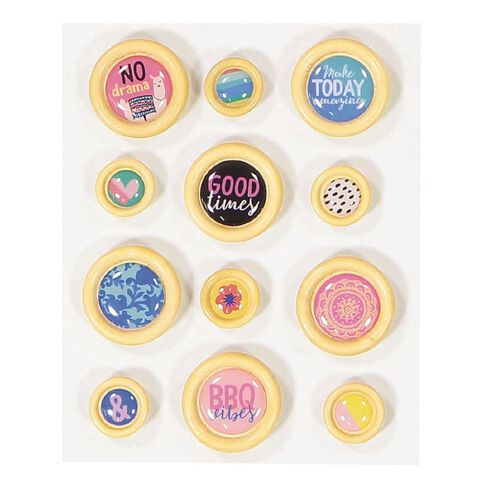 Rosie's Studio Lets Get Together Epoxy Buttons 12 Piece