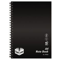 Spirax Notebook Spiral PP P595A 240 Pages Black A4