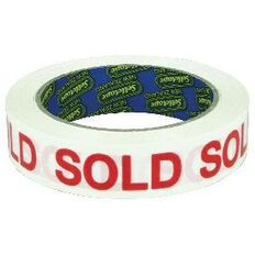 Sellotape Sold Red White 24mm x 66m
