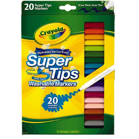 Crayola Super Tip Markers 20 Pack Warehouse Stationery Nz