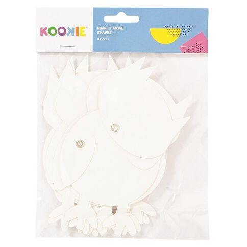Kookie Diecut Shapes White 8 Pack