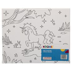 Kookie Paint Your Own Canvas Unicorn Large