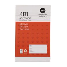 WS Notebook 4B1 7mm Ruled 64 Leaf Red