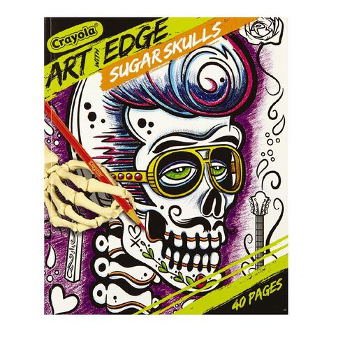 Crayola Art With Edge Sugar Skulls Colouring Book