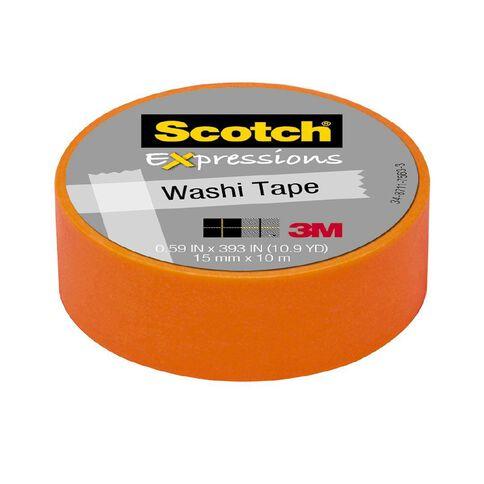 Scotch Washi Craft Tape 15mm x 10m Orange