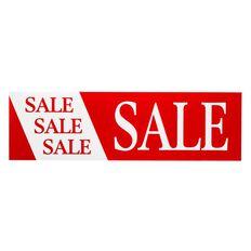 Quikstik Banner Sale Horizontal 300 x 1000mm Red/White