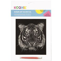 Kookie Scrape Art Set Silver Grey 1 Pack