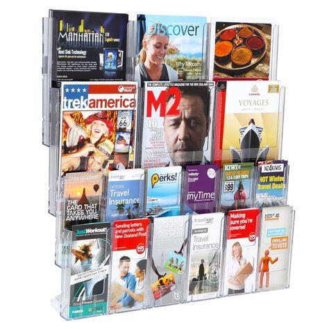 Deflecto Brochure Holder Lit Loc Wall Rack Kit 12 x Dle 6 x A4