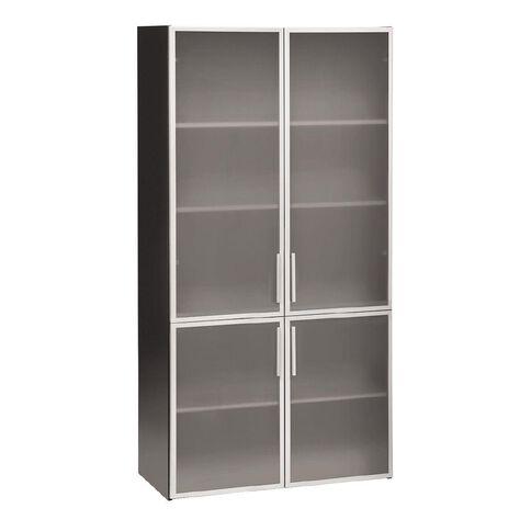 Jasper J Emerge 700/1100 Glass Door Storage Cupboard White/Ironston