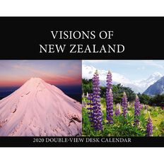 BrownTrout 2020 Desk Easel Calendar Visions Of New Zealand