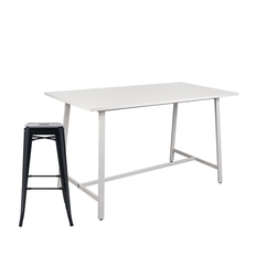 Buy 1 Workspace Studio Meeting Table & 6 Workspace Metal Stools 76cm for $599