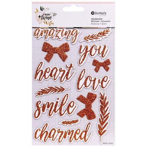 Rosie's Studio Twig & Twine Foil Chipboard Stickers