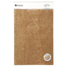 Rosie's Studio Adhesive Glitter Paper Silver Charcoal Rose A4 3 Pack