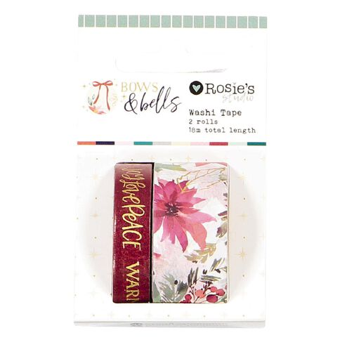 Rosie's Studio Bows & Bells Washi Tape 18m 2 Pack