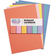 U-Do Value Cardstock Textured 216gsm 30 Sheets Brights A4