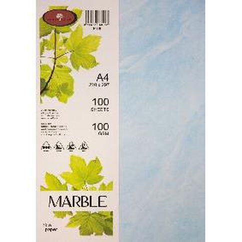 Direct Paper Marble Paper 100gsm 100 Pack Blue A4