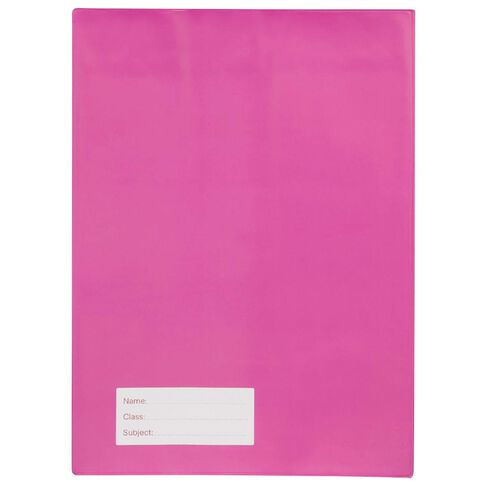Solid Book Sleeve Pink A4