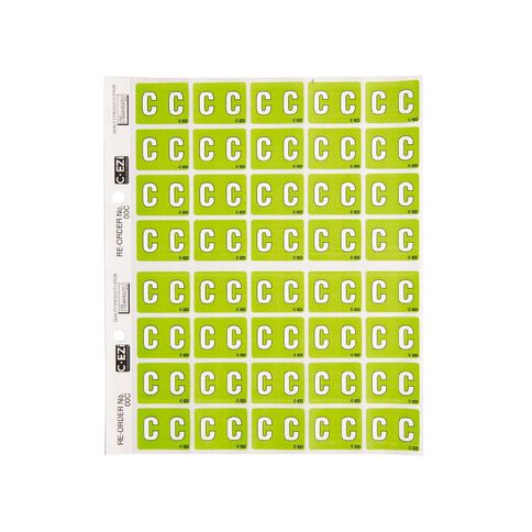 Filecorp Coloured Labels C Green