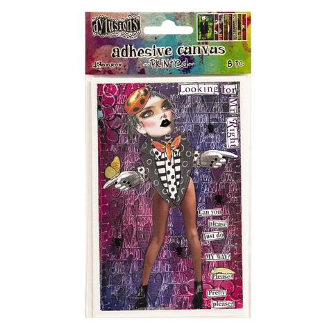 Ranger Dylusions Adhesive Canvas Printed Collection 2