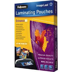 Fellowes Laminating Pouches A4 80 Micron 100 Pack Clear