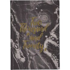 Modena 2020 Diary Day to Page Case Bound Marble Texture A5