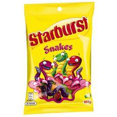 Starburst Snakes Lollies Bag 180g