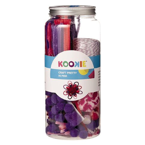 Kookie Craft Jar Pretty In Pink 208 Pack