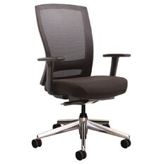 Buro Mentor Executive Chair with Arms Aluminium Base with Arms