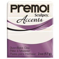 Sculpey Premo Accent Clay 57g Pearl White